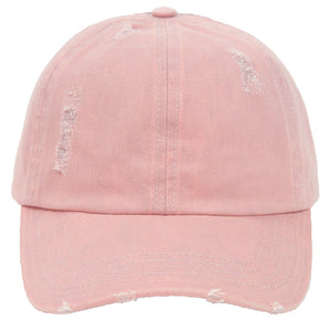 Distressed Cotton Ponyflo® Cap