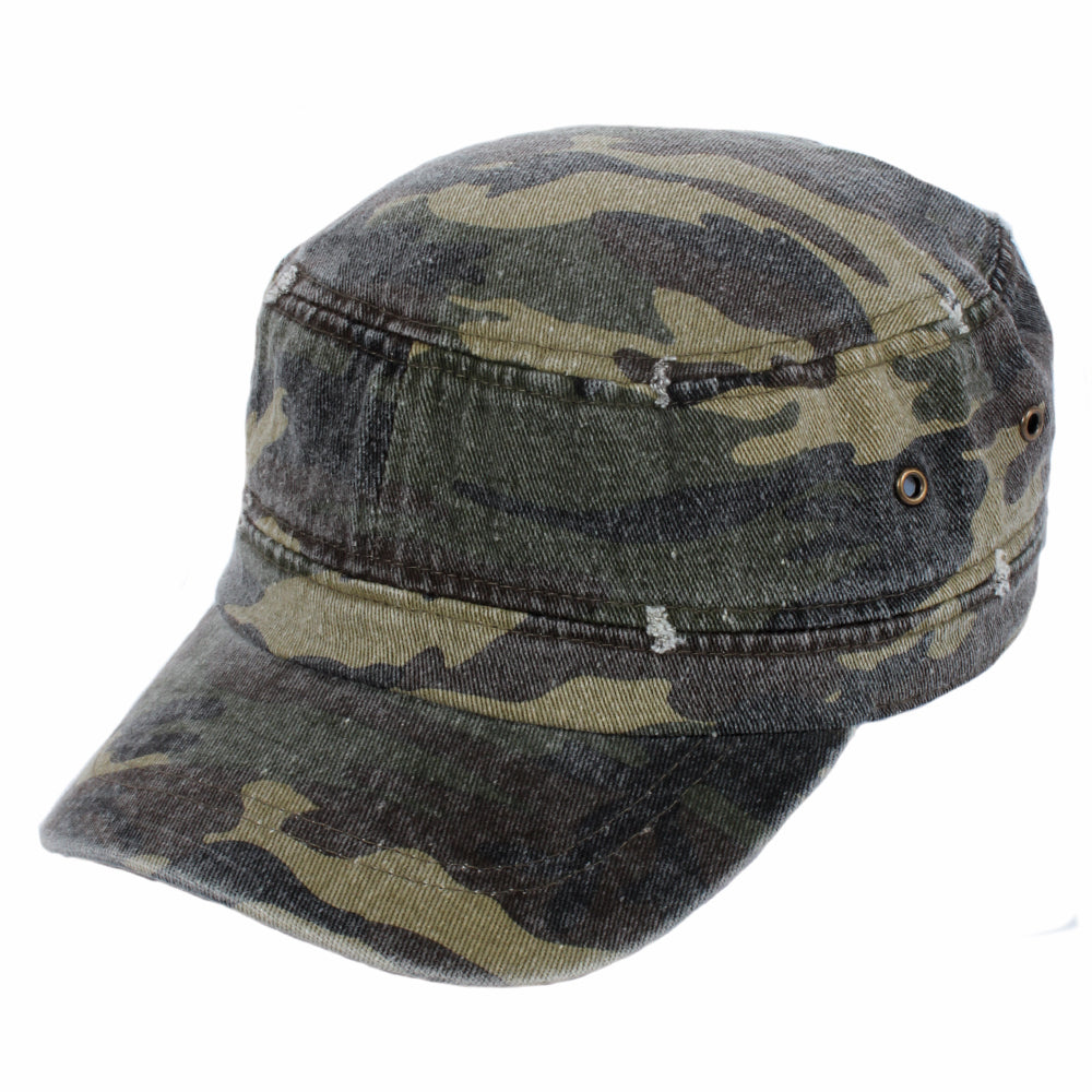 Distressed Camo Cadet