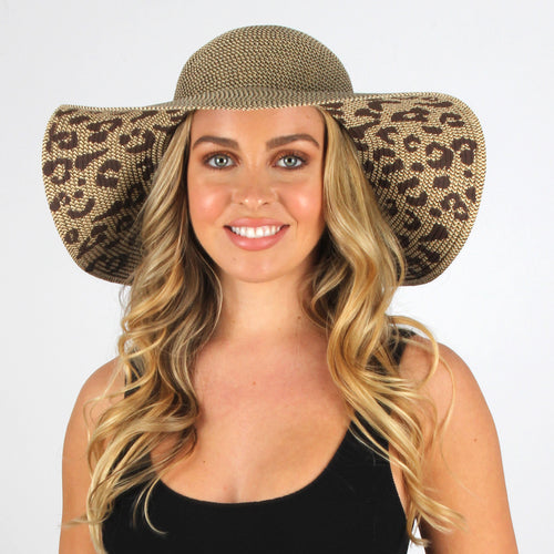 Leopard Under Brim Sun Hat