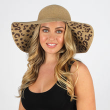 Load image into Gallery viewer, Leopard Under Brim Sun Hat