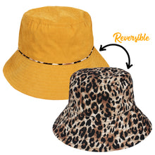 Load image into Gallery viewer, Reversible Leopard Print Bucket Hat