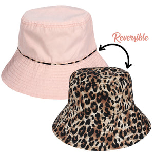 Reversible Leopard Print Bucket Hat