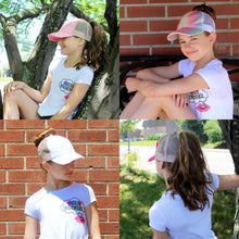 Load image into Gallery viewer, Kids Glitter Mesh Back Ponyflo® Cap