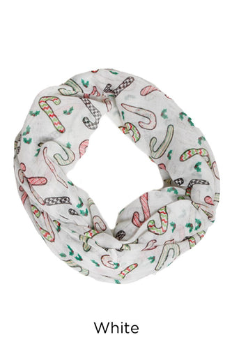 PTINF03576 - Patterned Candy Cane Infinity Scarf