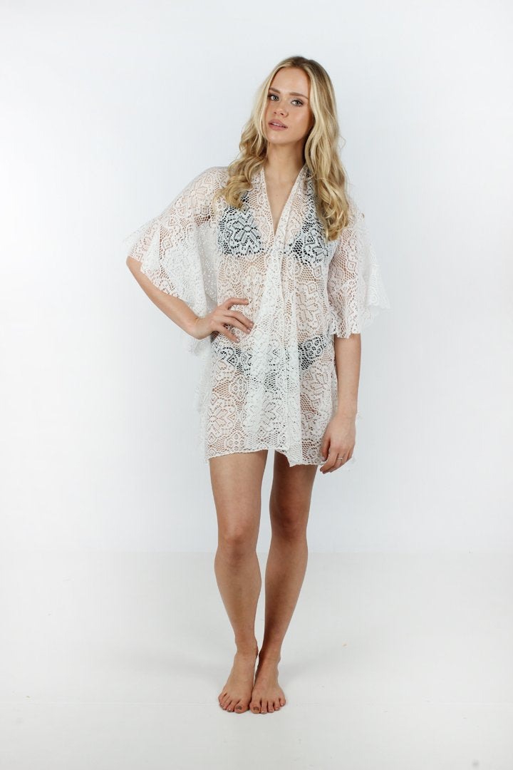 Ruffled Lace Ruana