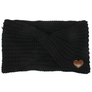 Eco-Friendly Loop Scarf with Heart Patch