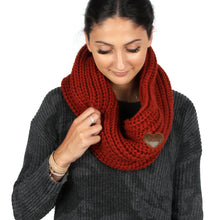 Load image into Gallery viewer, Eco-Friendly Loop Scarf with Heart Patch