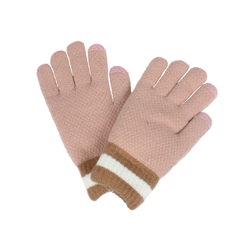 Colorblock Cuff Cozy Glove, PTGL1029