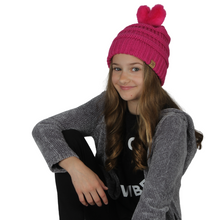 Load image into Gallery viewer, Kids Heart Pom Beanie, AJRBB284