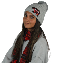 Load image into Gallery viewer, Mama Bear Beanie with self pom