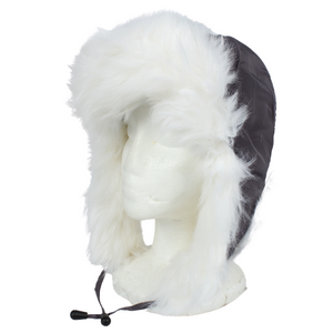Satin Feel Trapper with Faux Fur Trim, ATP45754