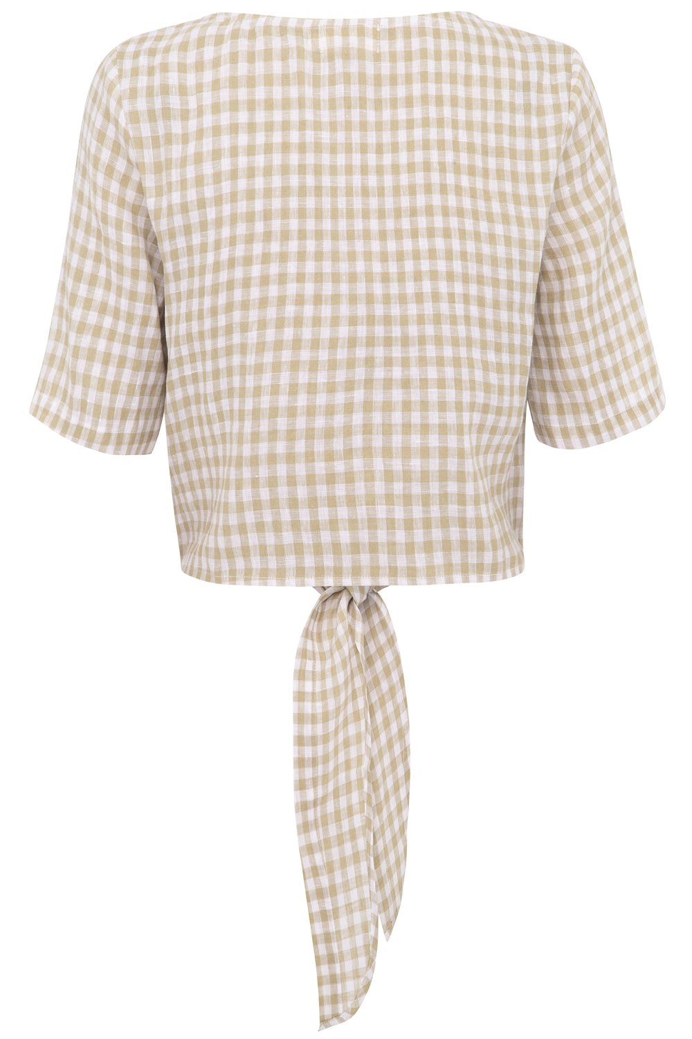 Alice Gingham Tie Top