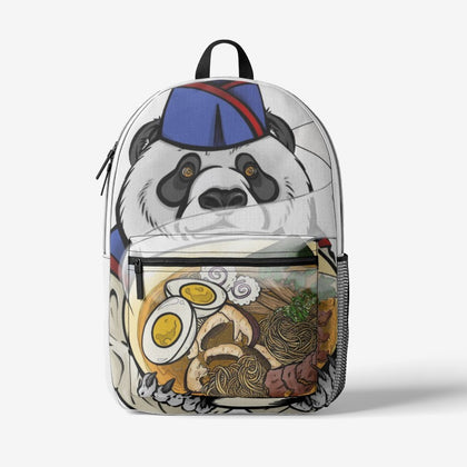 Jen's Panda Retro Colorful Print Trendy Backpack - Ikonic Apparel