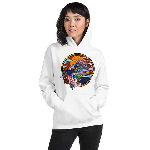 Jen's Dragon Tattoo Art Unisex Hoodie - Ikonic Apparel