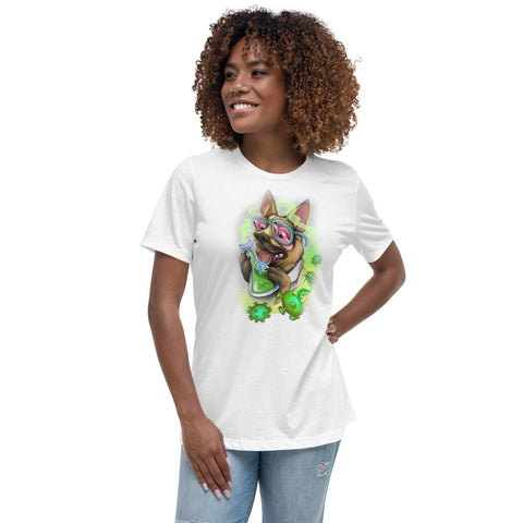 """Bird"" Dog Scientist COVID Women's Relaxed T-Shirt - Ikonic Apparel"
