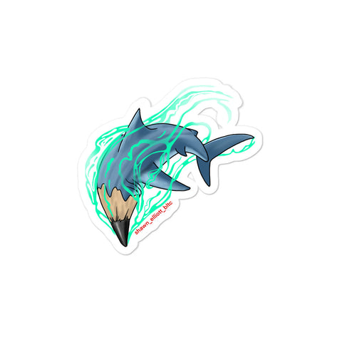 SE Shark Pencil Tattoo Art Sticker - Ikonic Apparel