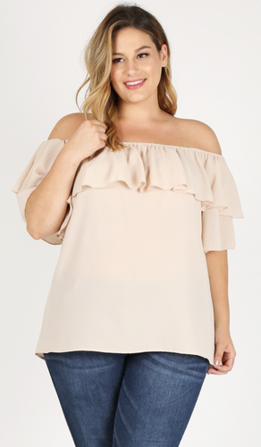 feeling fun off the shoulder curvy top