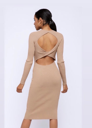 open twist  back dress