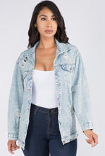 Load image into Gallery viewer, Light denim jean jacket
