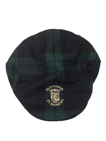 Old Course St Andrews Tartan Flat Cap