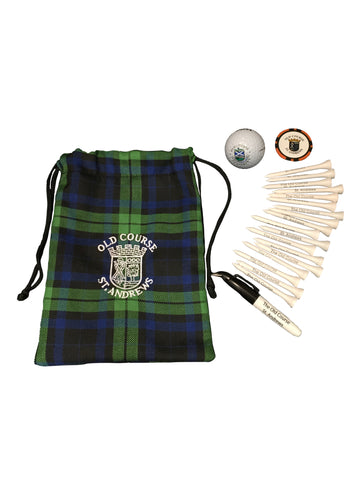 Old Course St Andrews Tartan Tote Bag/Pouch