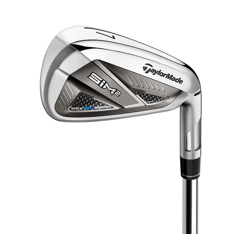 New 2021 TaylorMade Men's Right Hand SIM2 Max Iron Set (5 -SW + A Wedge) Stiff Shaft