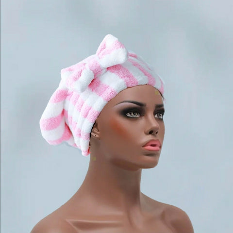 Bowy Hair Drying Hat