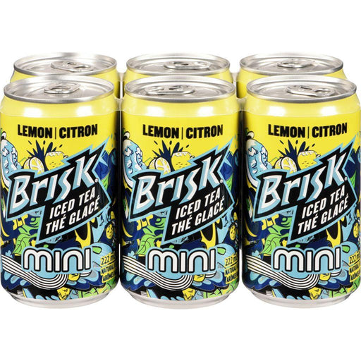 BRISK Lemon Iced Tea Minis 6x222mL Brisk Couryah