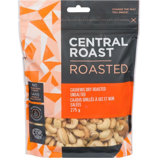 Central Roast Cashews Dry Roasted Unsalted 275 g Central Roast Couryah
