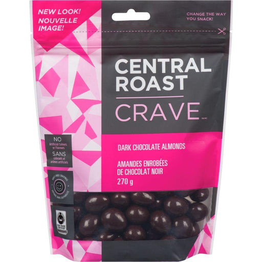 Central Roast Dark Chocolate Almonds 270 g Central Roast Couryah