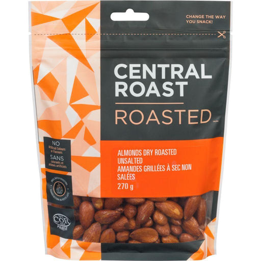 Central Roast Dry Roasted Almonds Unsalted 270 g Central Roast Couryah