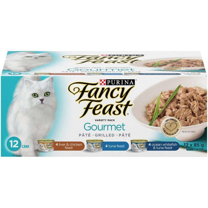 Fancy Feast Gourmet Wet Cat Food Variety Pack 12x85g Purina Couryah