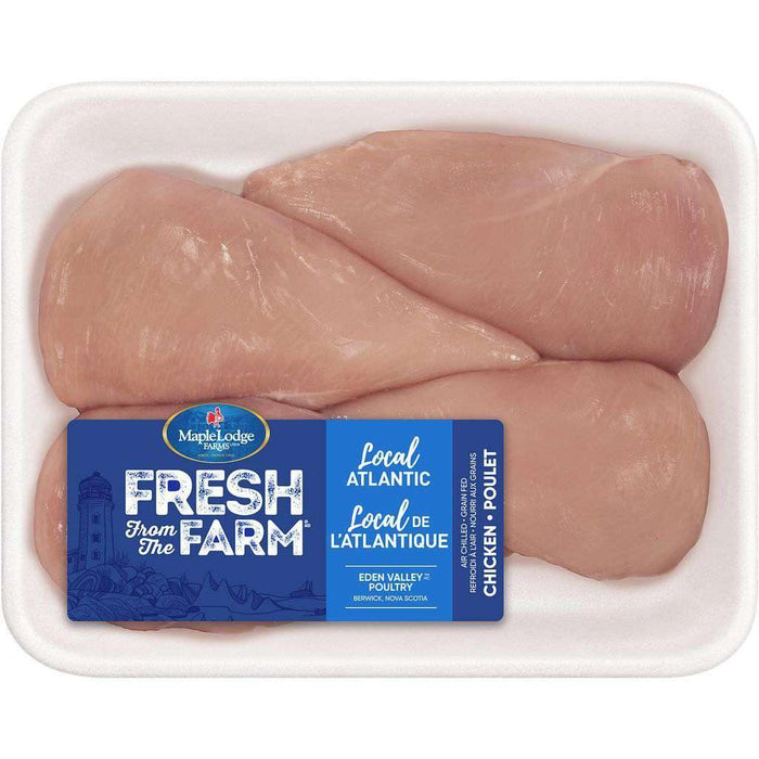 Fresh From The Farm Chicken Breast Boneless Skinless, 4 Pack Maple Lodge Couryah