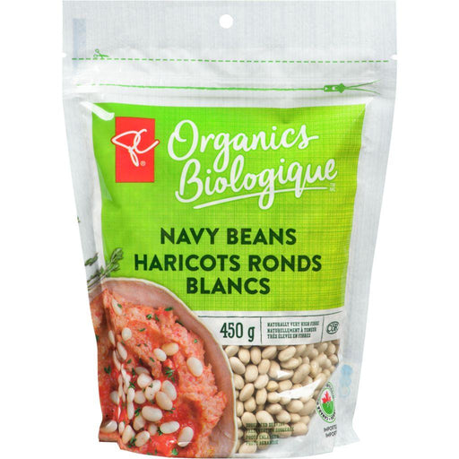 PC Organic Navy Beans 450 g President's Choice Couryah
