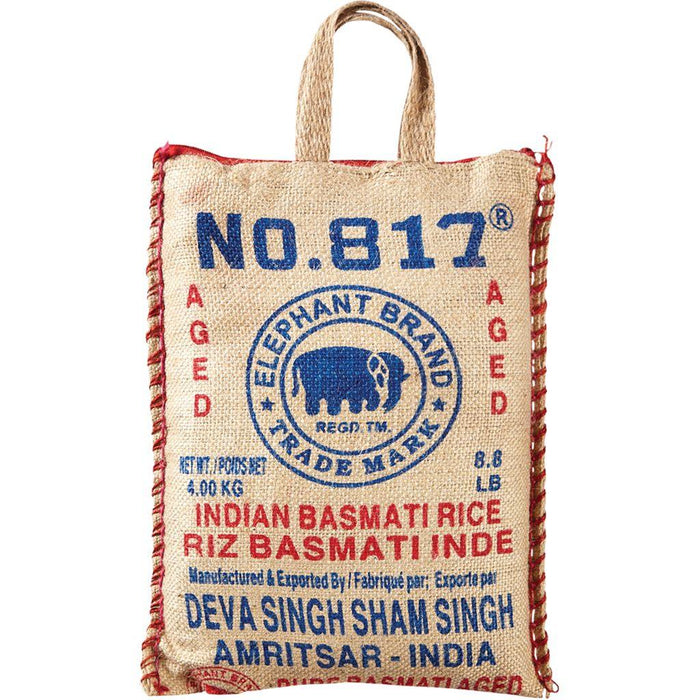 817 Elephant Pure Basmati Rice 4kg 817 Elephant Couryah