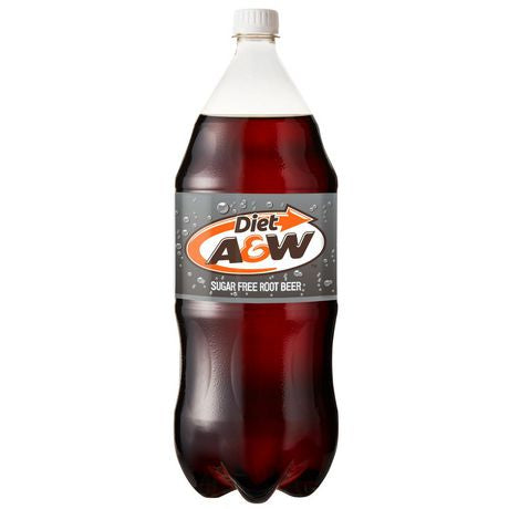 A&W Diet Root Beer Soda Bottle 2L