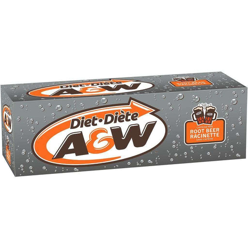 A&W Diet Root Beer Case (12 x 355 mL) A&W Couryah