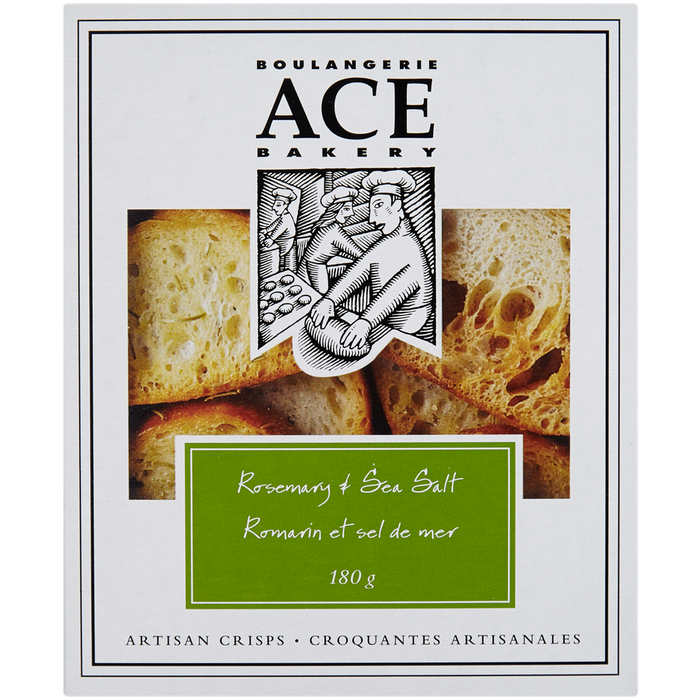 Ace Bakery Artisan Crisps, Rosemary & Sea Salt 180g