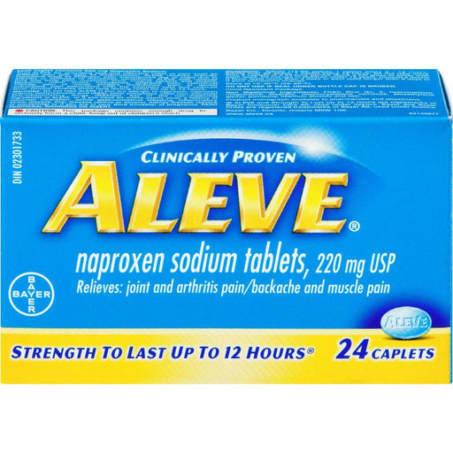 Aleve Naproxen Sodium 220 mg Tablets (24 Caplets) Aleve Couryah