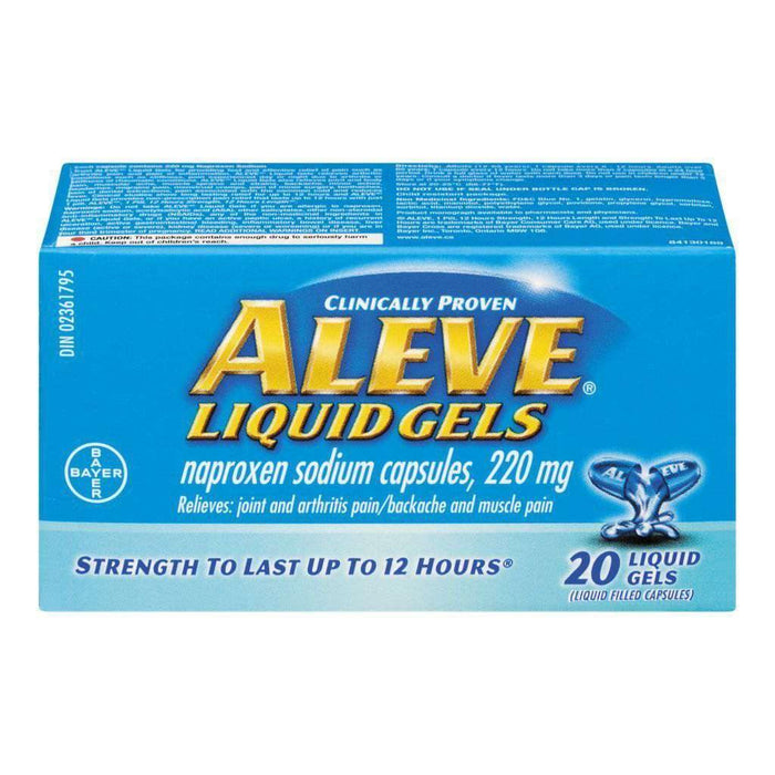 Aleve Liquid Gels - 20 Each 220mg Aleve Couryah
