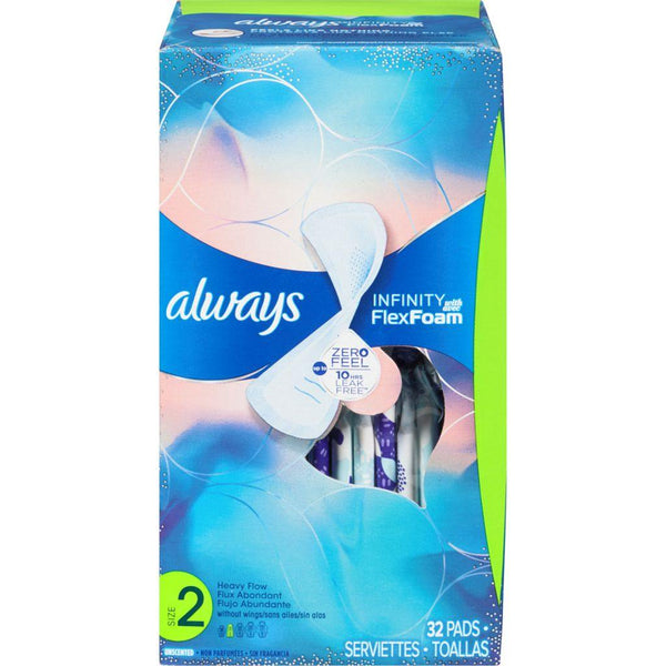 Always Infinity Size 2 Heavy Flow 32 Pads