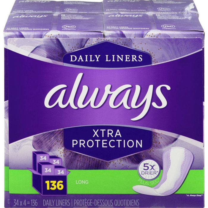 Always Xtra Protection Long 136 Liners Always Couryah