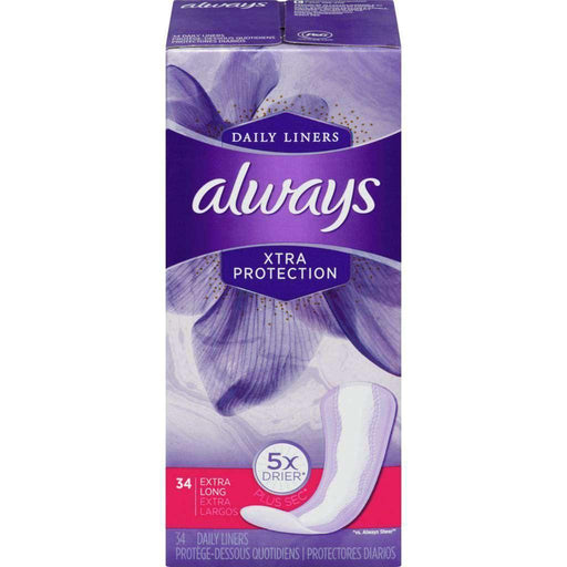 Always Xtra Protection Extra - Long 34 Liners Always Couryah