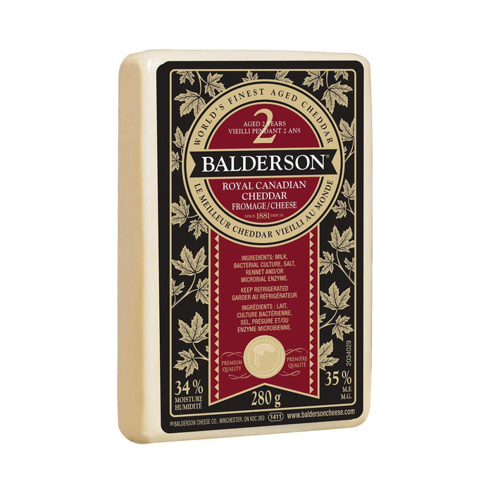 Balderson 2-Year Old Royal Canadian White Cheddar Cheese 280g Balderson Couryah