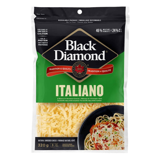 Black Diamond Italiano Shredded Cheese 320 g Black Diamond Couryah
