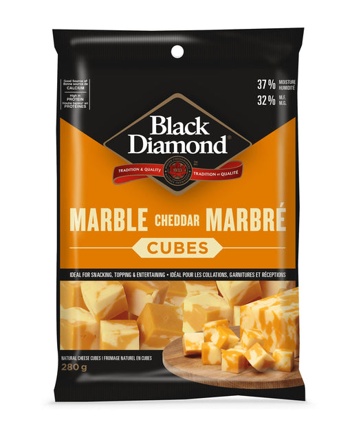 Black Diamond Marble Cheddar Cheese Cubes 280 g Black Diamond Couryah