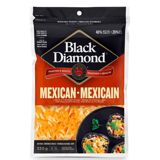 Black Diamond Mexican Shredded Cheese 320 g Black Diamond Couryah