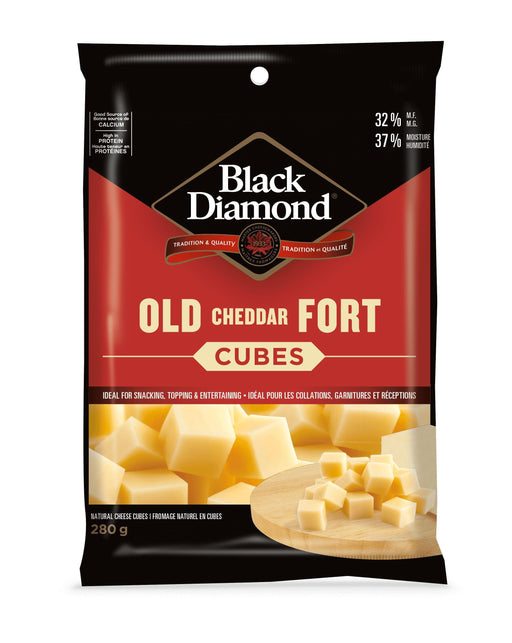 Black Diamond Old Cheddar Cheese Cubes 280 g Black Diamond Couryah