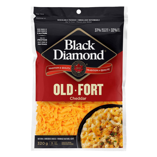 Black Diamond Old Cheddar Shredded Cheese 320 g Black Diamond Couryah