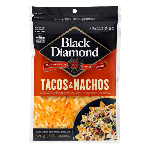 Black Diamond Tacos & Nachos Shredded Cheese 320 g Black Diamond Couryah